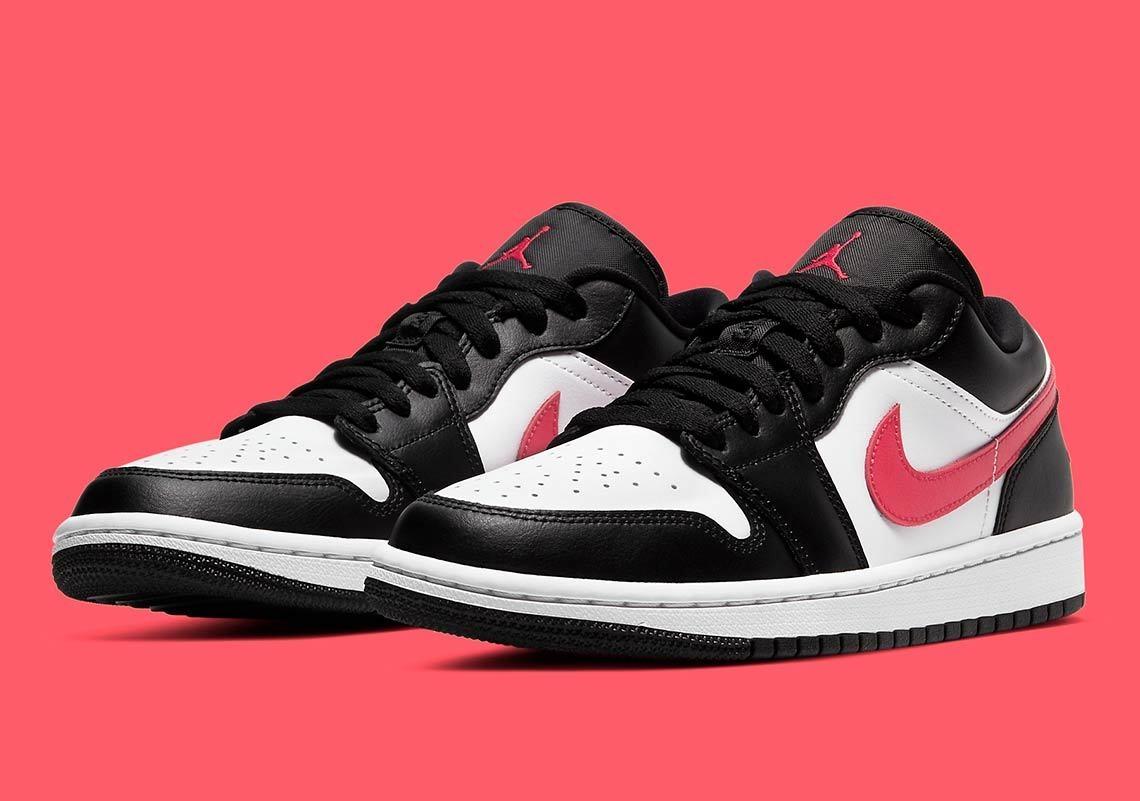 Кроссовки Jordan 1 Low Black Siren Red