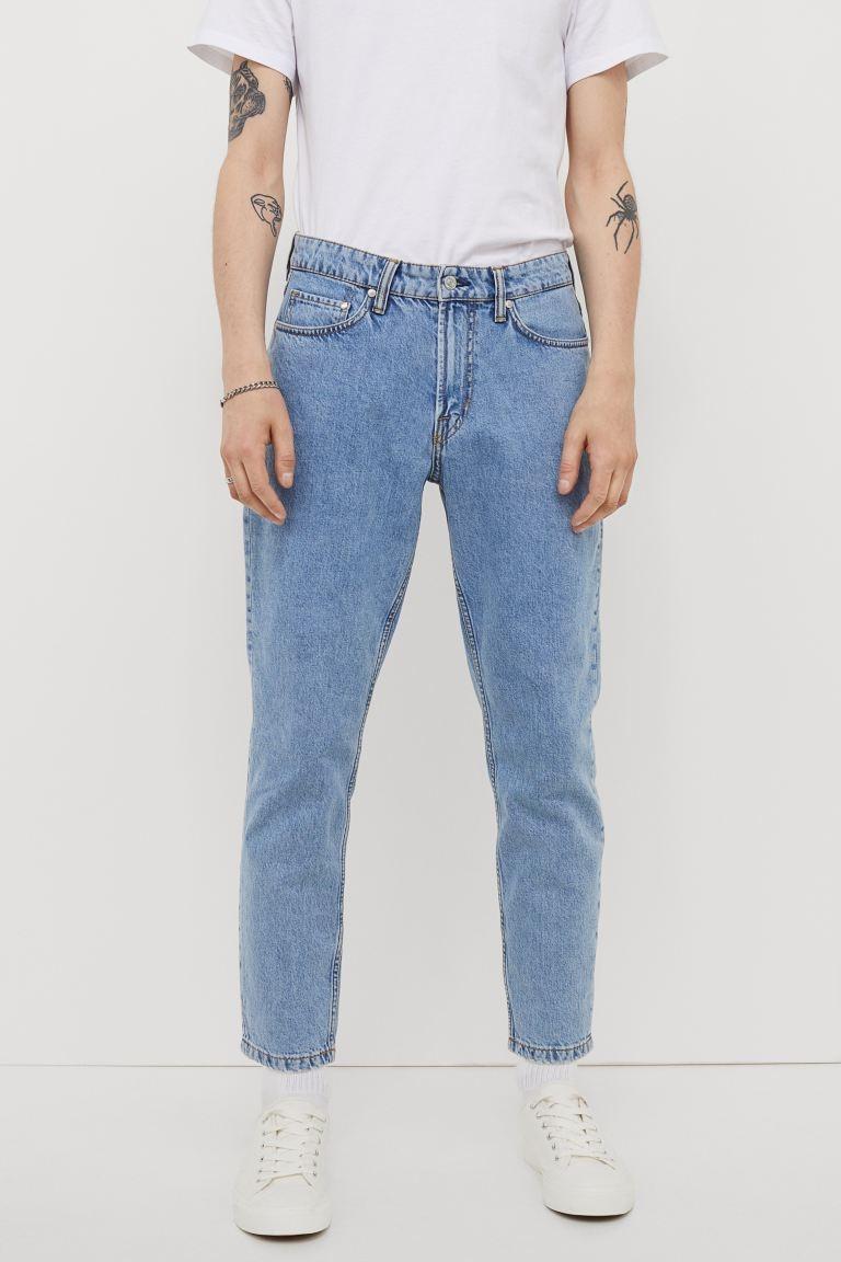 Укороченные зауженные джинсы